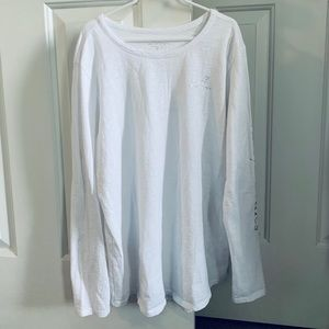 Vineyard Vines White Crewneck Long Sleeve, XL (16)
